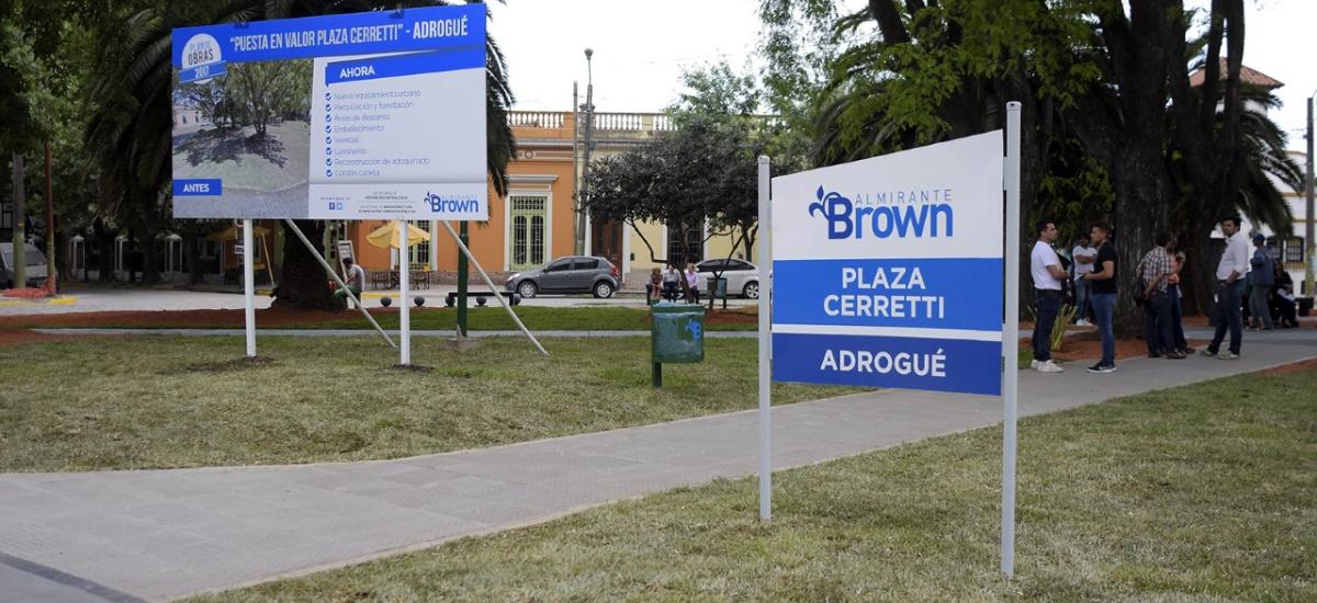 Cascallares inauguró las obras de la nueva plaza Cerretti de Adrogué