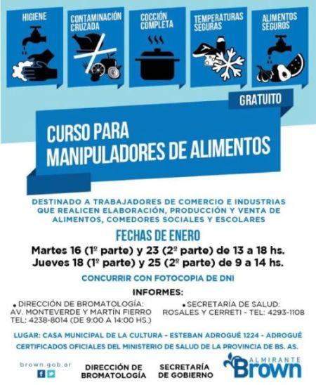 El Municipio lanza nuevos cursos gratuitos dirigidos a manipuladores de alimentos