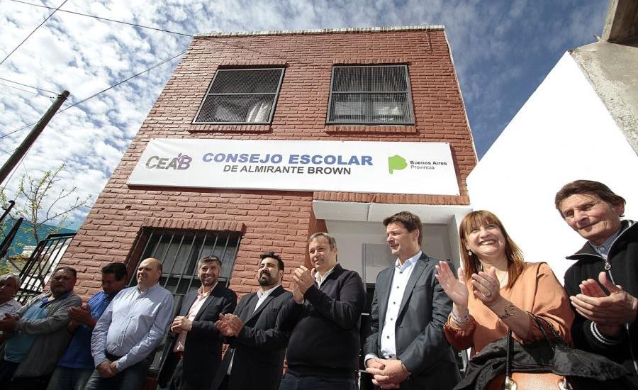 Cascallares inauguró la nueva sede del Consejo Escolar de Almirante Brown