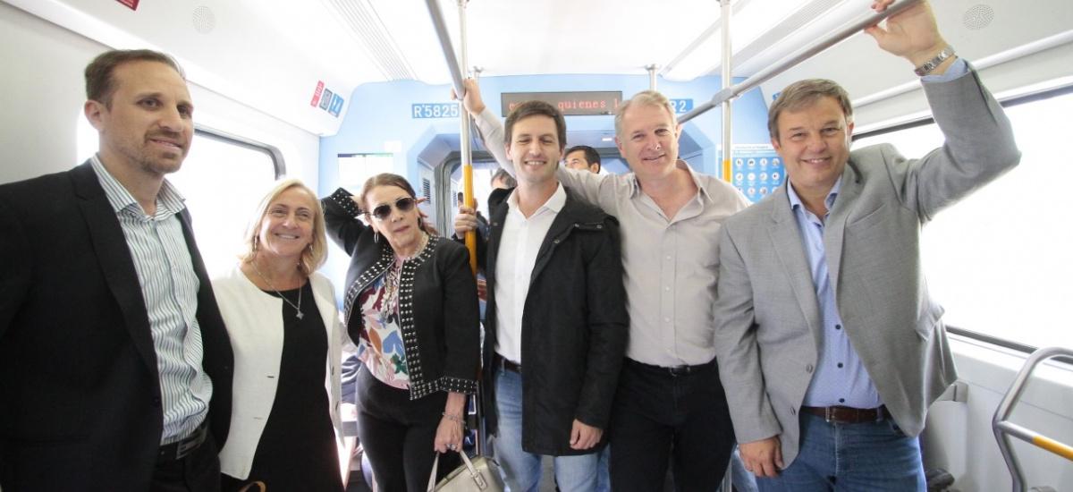Cascallares y directivos de Trenes Argentinos recorrieron obras en las vías del Roca