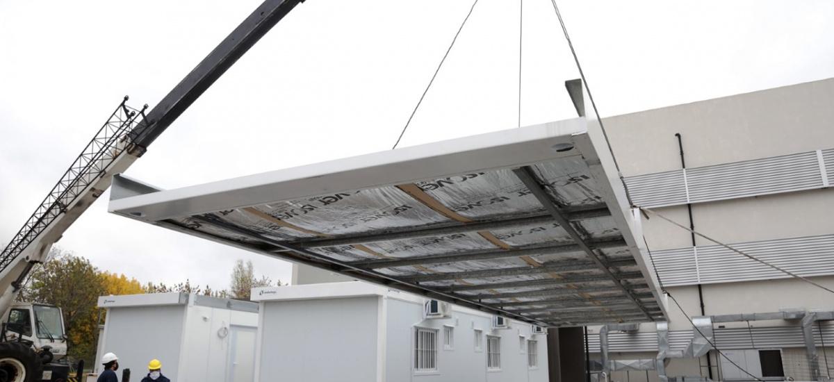 El municipio le suma un hospital modular con camas al Lucio Meléndez