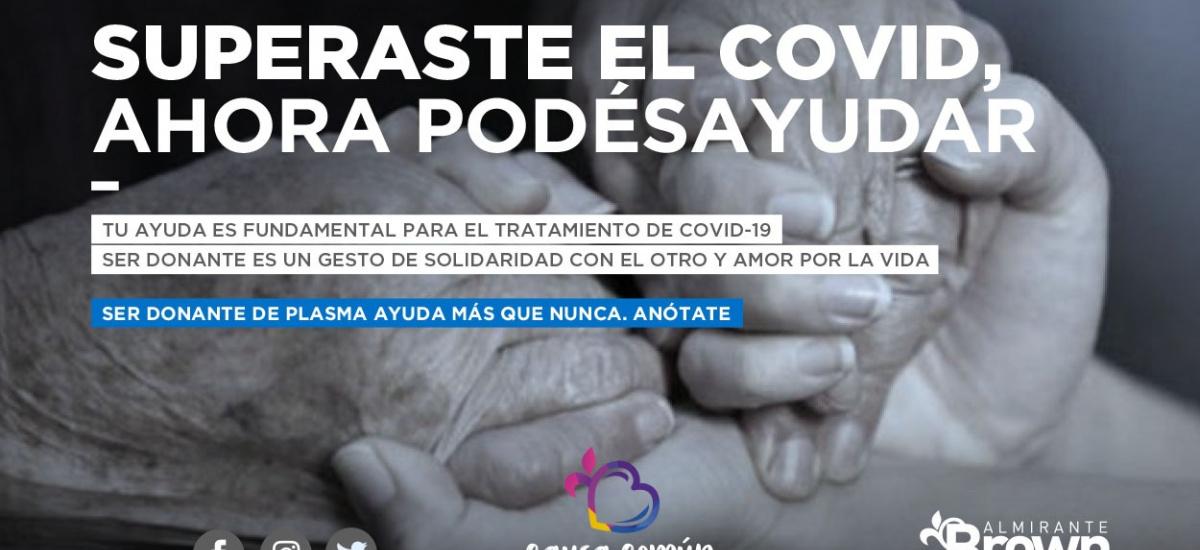 El municipio convoca a recuperados de Covid-19 para donar plasma