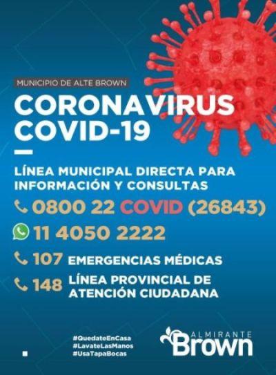 El municipio puso en marcha la línea telefónica 0800 22 Covid