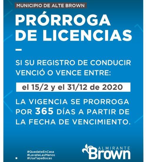 Prorrogan por 365 días el vencimiento de las licencias de conducir