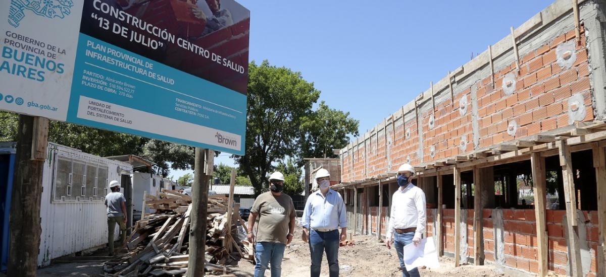 Avanza la construcción de otro centro de la salud en Alte.Brown