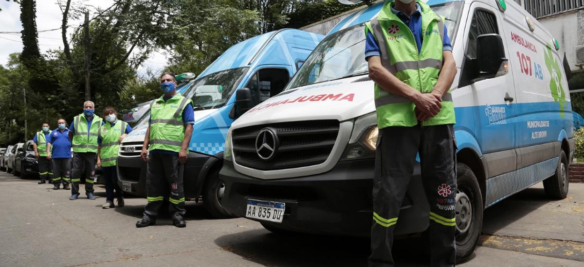 En 2020 el servicio de emergencias médicas 107 AB realizó 25 mil asistencias