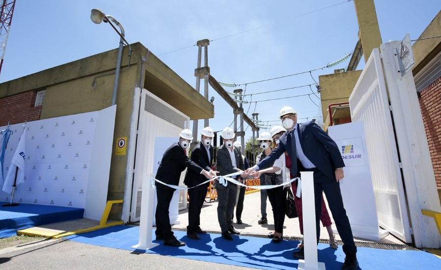 Cascallares y Martínez en la inauguración de obras que potencian el suministro eléctrico