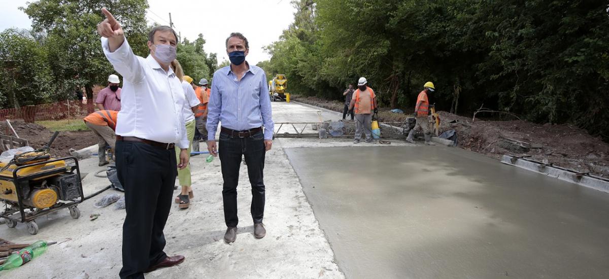 Cascallares y Katopodis recorrieron la histórica obra de la avenida República Argentina