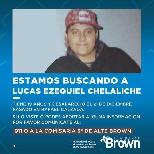 El municipio colabora en la búsqueda de un joven de Rafael Calzada