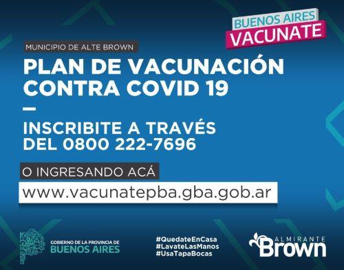 Convocan a inscribirse para vacunarse a través del 0800 del Municipio