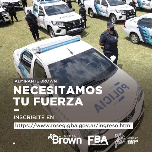 Convocan a sumarse a la escuela de formación de la Policía Bonaerense