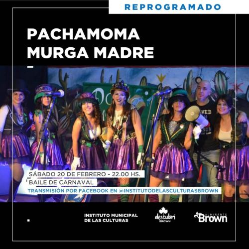 Fin de semana a puro carnaval con shows virtuales en Almirante Brown