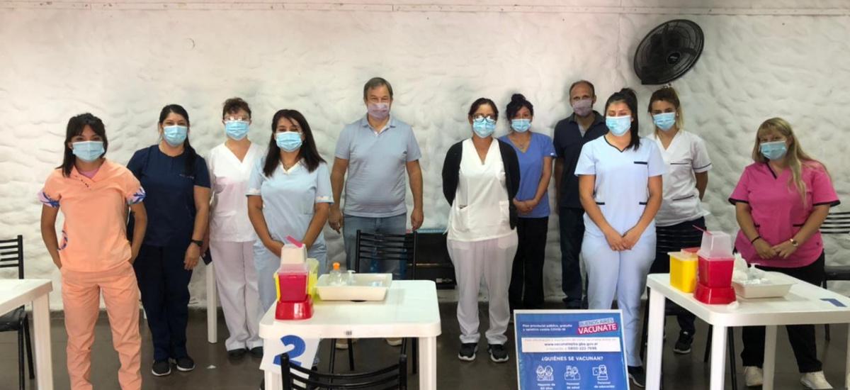 Cascallares recorrió centros de vacunación contra el Covid-19