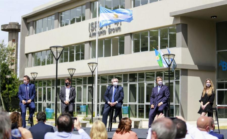 Alberto Fernández, Kicillof y Cascallares inauguraron el nuevo edificio del ISFD N° 41