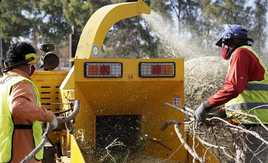 Circuito ecológico: En Alte Brown transforman miles de kilos de ramas en abono para plazas y paseos