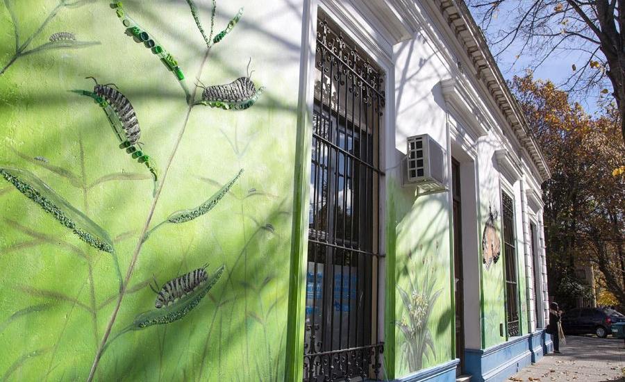 En el día del medio ambiente, el Municipio presentó un mural de arte sustentable