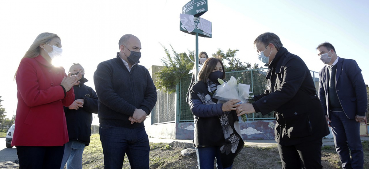 Impusieron el nombre de un excombatiente browniano a una calle de San José