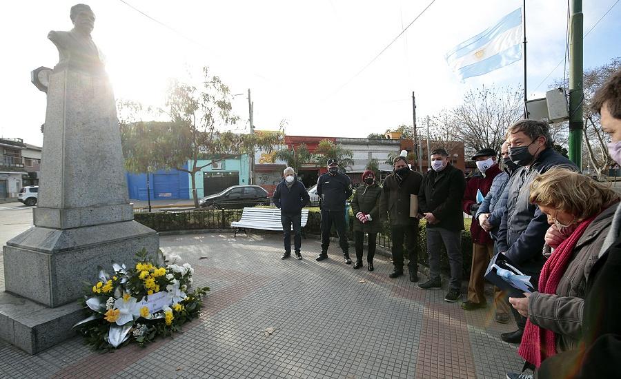Cascallares encabezó la celebración por el 112° aniversario de Rafael Calzada