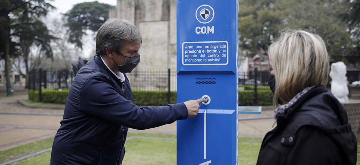 """El Municipio de Almirante Brown instala """"puntos seguros"""" para casos de emergencias"""