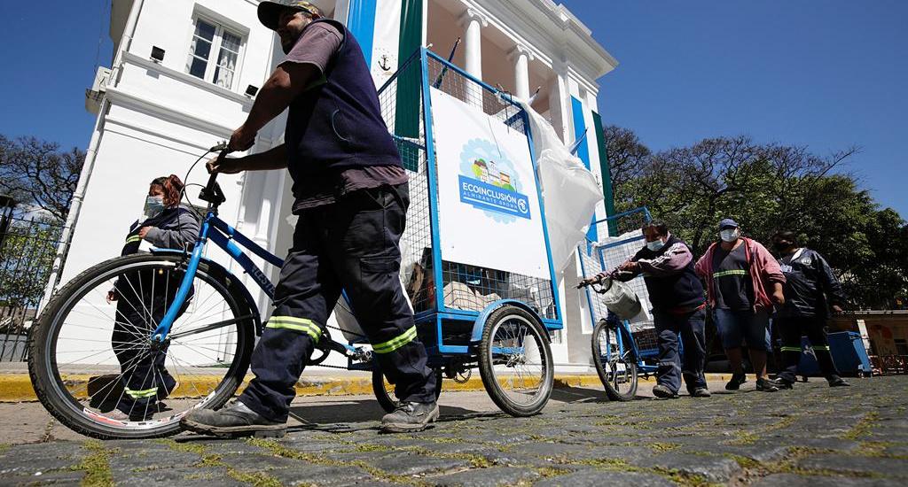 """Incorporan nuevos """"bicicarros"""" para realizar la recolección diferenciada en Brown"""
