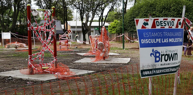 El municipio de  Alte. Brown pone en valor  la plaza  Nuestra Señora de Luján de José Mármol