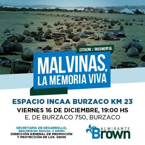 Estrenarán documental de veteranos de Malvinas en Burzaco