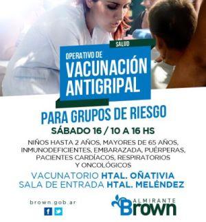 Gripe A: Operativo de vacunación en los hospitales Oñativia y Meléndez