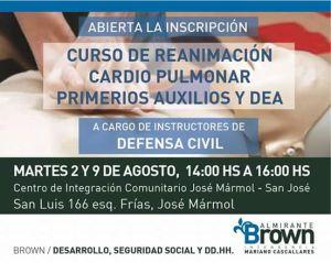 Inscriben a curso de RCP en el CIC de José Mármol