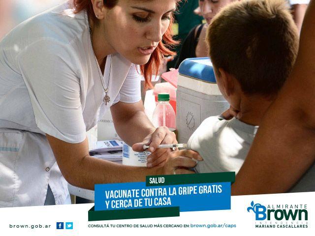 Gripe a: en Almirante Brown convocan a vacunar a los niños de seis meses a dos años