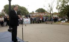Cascallares encabezó un emotivo homenaje a los héroes del Crucero General Belgrano