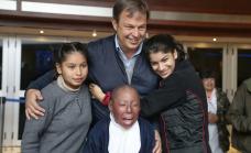 Cascallares acompañó al cine a alumnos de escuelas especiales