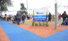 Cascallares presentó la renovada plaza Guillermina de Malvinas Argentinas