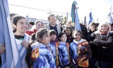 Cascallares celebró el 109° aniversario de Longchamps junto a las instituciones y los vecinos