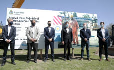 Cascallares firmó el convenio para la construcción del paso bajo nivel de San Martín