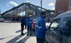 El municipio realizó un megaoperativo vial en la estación de Glew