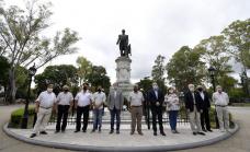 Cascallares encabezó homenaje a Guillermo Brown a 164 años de su fallecimiento