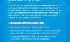 El Municipio exime de tasas a comercios alcanzados por restricciones