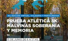 """Invitan a participar de la prueba atlética Virtual """"Malvinas, Soberanía y Memoria"""""""