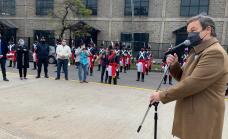 Cascallares encabezó emotivo acto por el 205º aniversario de la Independencia en Longchamps